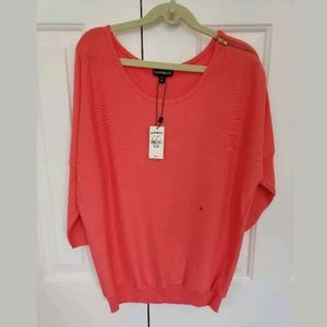 Express Coral Sweater XS
